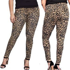LANE BRYANT Super Stretch Skinny Jeans Leopard